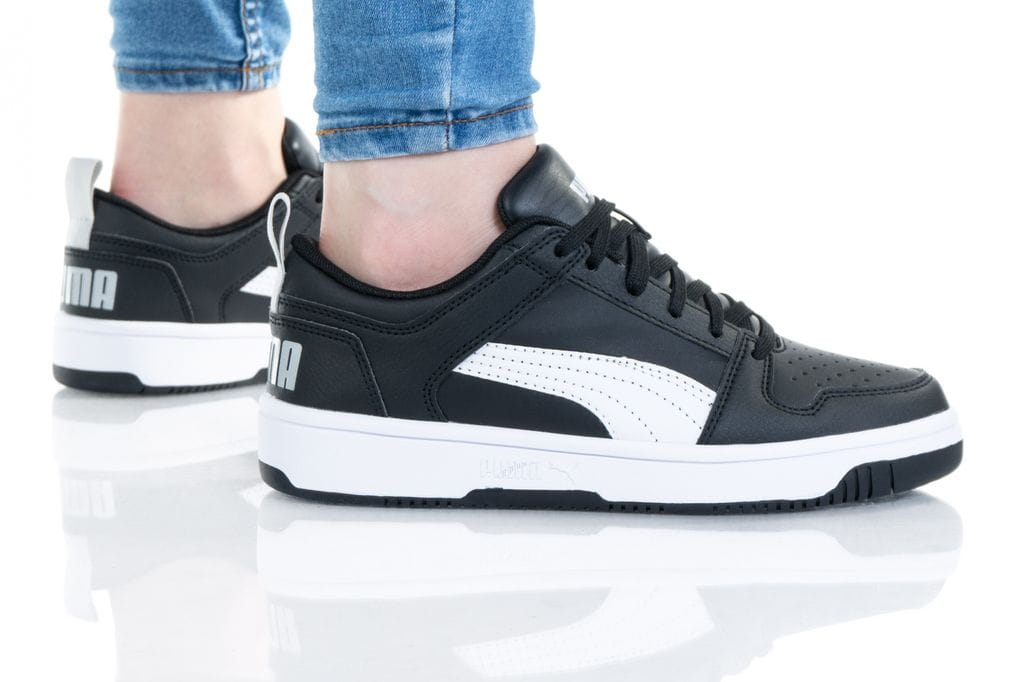 נעלי סניקרס פומה לנשים PUMA REBOUND LAYUP - שחור/לבן