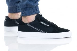 נעלי סניקרס אדידס לגברים Adidas Originals Continental Vulc - לבן/שחור