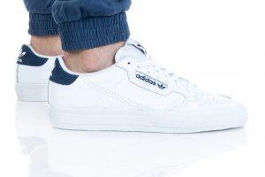 נעלי סניקרס אדידס לגברים Adidas Originals Continental Vulc - לבן/ כחול