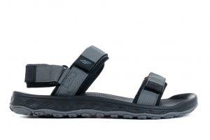 נעליים פור אף לגברים 4F H4L20 SAM001 SANDALS - אפור כהה