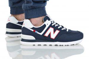 נעליים ניו באלאנס לגברים New Balance ML574 - לבן  כחול  אדום