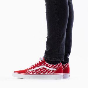 נעליים ואנס לגברים Vans Old skool - לבן/אדום