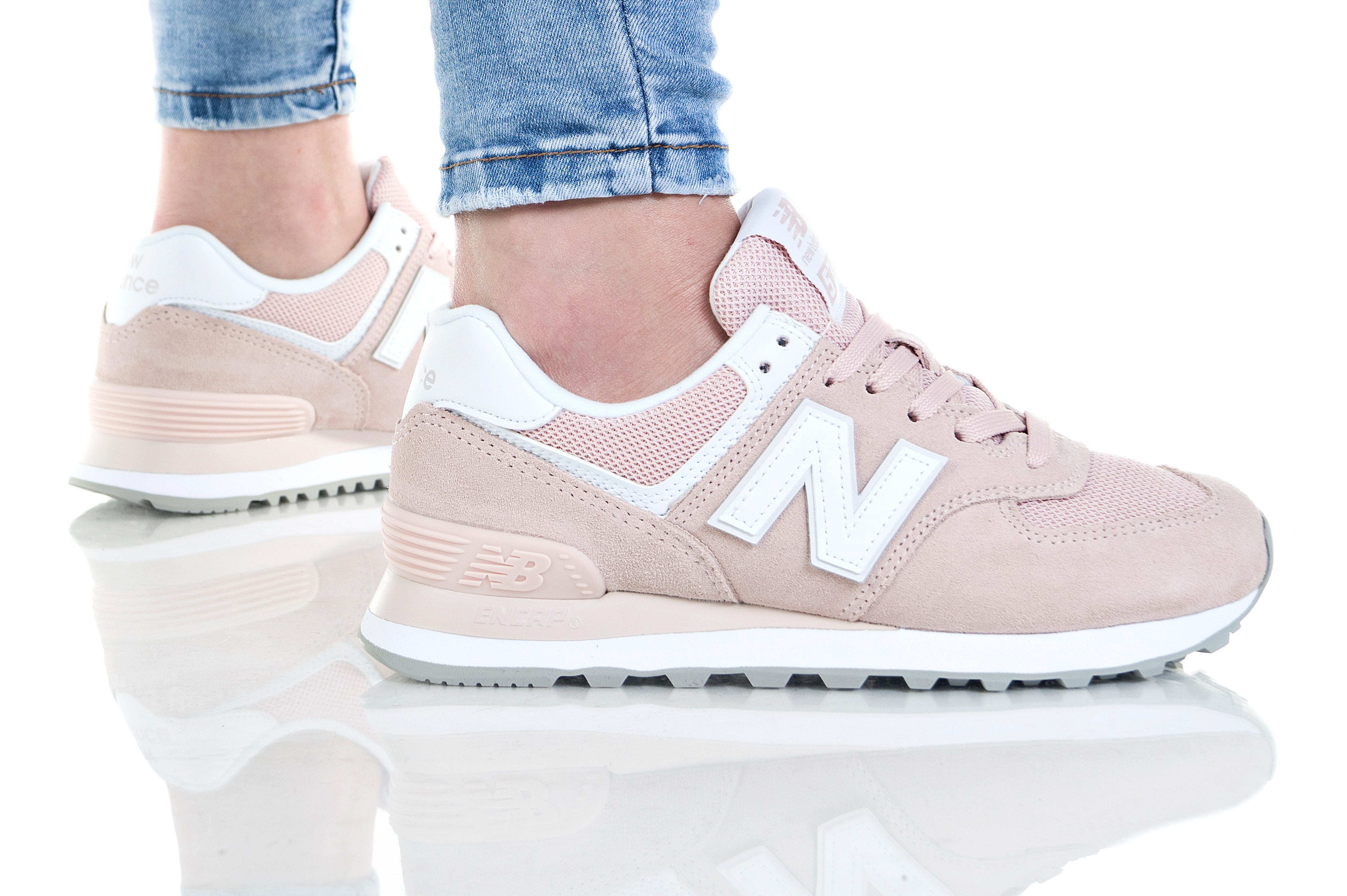 נעליים ניו באלאנס לנשים New Balance WL574 - ורוד בזוקה