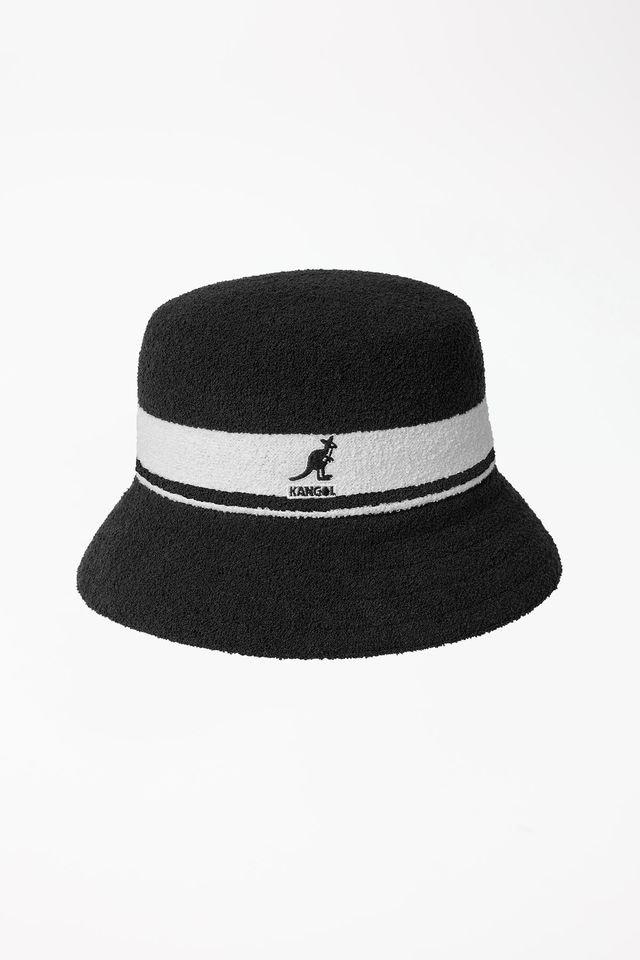 ביגוד קנגול לגברים Kangol BERMUDA STRIPE BUCKET - שחור/לבן