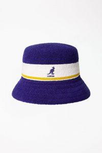 כובע קנגול לגברים Kangol BERMUDA STRIPE BUCKET - כחול/לבן