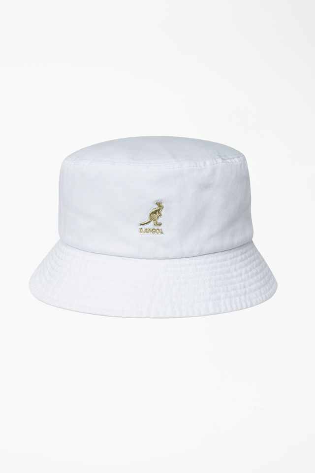 כובע קנגול לגברים Kangol WASHED BUCKET - לבן
