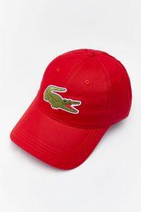 ביגוד לקוסט לגברים LACOSTE CAP - אדום
