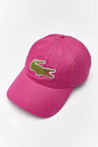 כובע לקוסט לגברים LACOSTE CAP - ורוד/לבן