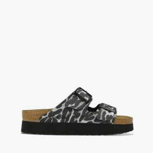 נעליים בירקנשטוק לנשים Birkenstock Papillio Arizona - שחור/לבן