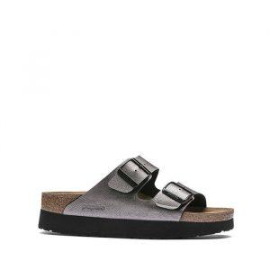 נעליים בירקנשטוק לנשים Birkenstock Papillio Arizona - כסף