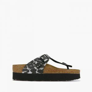 נעליים בירקנשטוק לנשים Birkenstock Papillio Gizeh - שחור/לבן