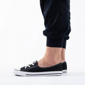 נעלי סניקרס קונברס לנשים Converse Chuck Taylor All Star Ballet Lace Slip - שחור