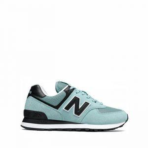 נעלי סניקרס ניו באלאנס לנשים New Balance WL574 - שחור/תכלת