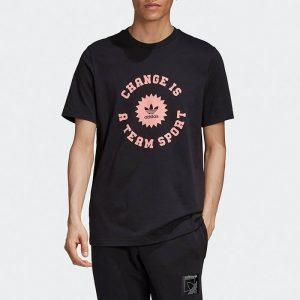 ביגוד אדידס לגברים Adidas Change is a Team Sport - שחור