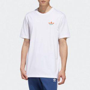 ביגוד אדידס לגברים Adidas Change is a Team - לבן