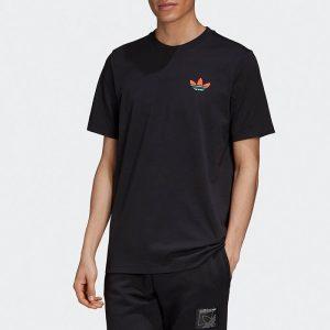 ביגוד אדידס לגברים Adidas Change is a Team - שחור