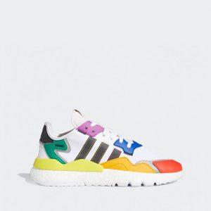 נעליים Adidas Originals לגברים Adidas Originals Nite Jogger Pride - צבעוני/לבן