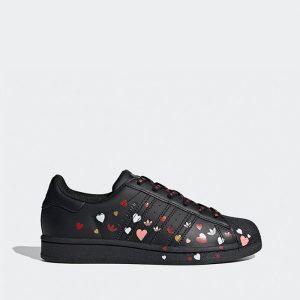 נעליים Adidas Originals לנשים Adidas Originals Superstar 2.0 J - שחור הדפס