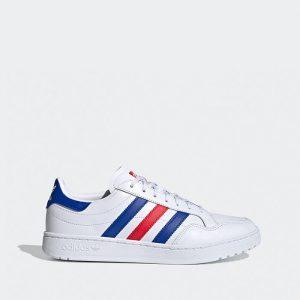 נעליים Adidas Originals לגברים Adidas Originals TEAM COURT - לבן  כחול  אדום