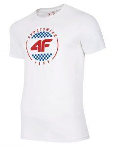 חולצת T פור אף לגברים 4F H4L20 TSM022 - לבן