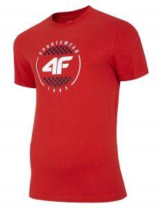 חולצת T פור אף לגברים 4F H4L20 TSM022 - אדום
