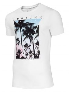 חולצת T פור אף לגברים 4F H4L20 TSM034 - לבן