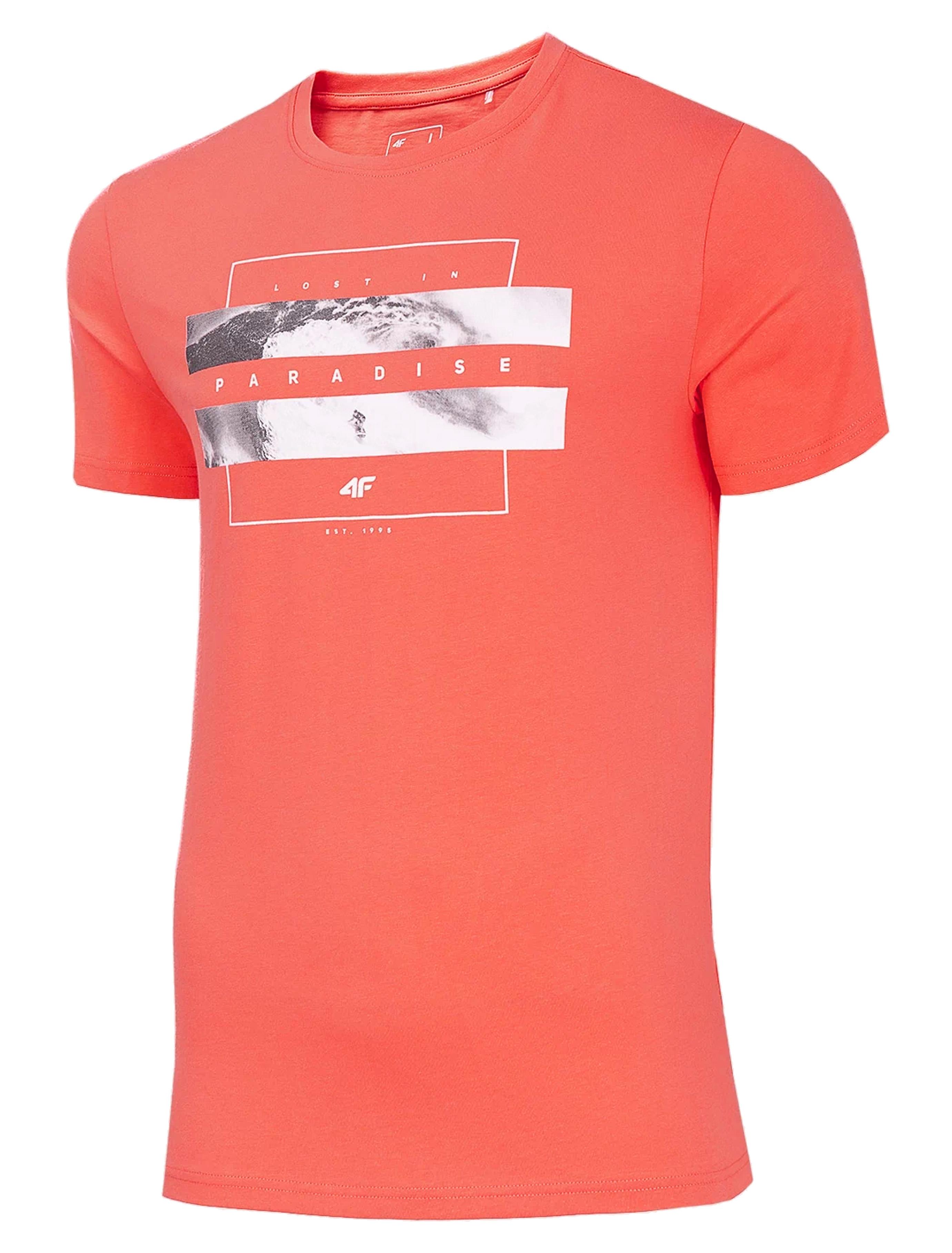 חולצת T פור אף לגברים 4F H4L20 TSM035 - אדום