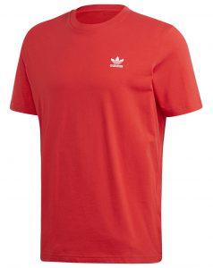 ביגוד אדידס לגברים Adidas ESSENTIAL TEE - אדום