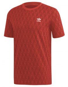 ביגוד אדידס לגברים Adidas MONO AOP - אדום