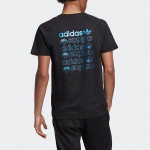 ביגוד Adidas Originals לגברים Adidas Originals Big Trefoil Tee - שחור