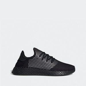 נעלי סניקרס אדידס לגברים Adidas Originals DEERUPT RUNNER - שחור פחם