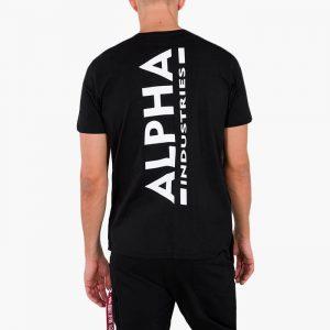 ביגוד אלפא אינדסטריז לגברים Alpha Industries Backrpint - שחור