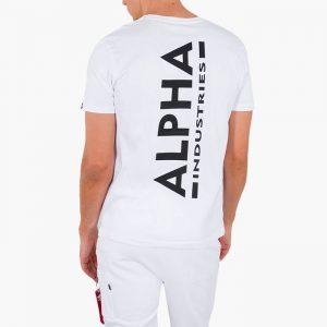 ביגוד אלפא אינדסטריז לגברים Alpha Industries Backrpint - לבן