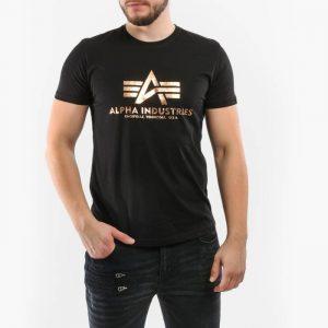 ביגוד אלפא אינדסטריז לגברים Alpha Industries Basic Fool Print - שחור