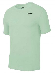 ביגוד נייק לגברים Nike DRY TEE DFC CREW SOLID - ירוק
