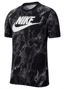 ביגוד נייק לגברים Nike FRAN SWOOSH AOP - שחור