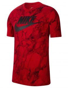 ביגוד נייק לגברים Nike FRAN SWOOSH AOP - אדום