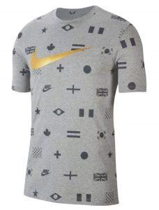 ביגוד נייק לגברים Nike TEE PREHEAT - אפור