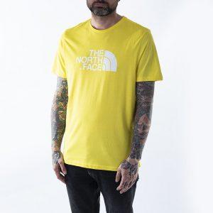ביגוד דה נורת פיס לגברים The North Face S/S Easy - צהוב