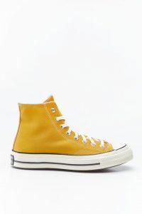 נעלי סניקרס קונברס לגברים Converse CHUCK 70 HI - צהוב