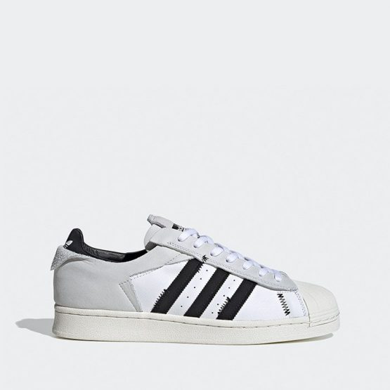 נעלי סניקרס אדידס לגברים Adidas Originals Superstar - לבן הדפס