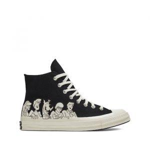 נעליים קונברס לגברים Converse x Scooby-Doo Chuck 70 Hi - שחור