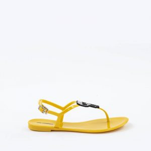 נעליים קרל לגרפלד לנשים Karl Lagerfeld Jelly II Pixel  Sling - צהוב