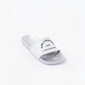 נעליים קרל לגרפלד לנשים Karl Lagerfeld Kondo II Maison  Slide - לבן