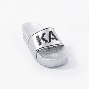 נעליים קרל לגרפלד לנשים Karl Lagerfeld Kondo Maxi Platform Slide - כסףשחור