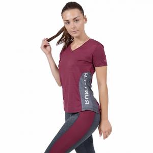 חולצת אימון VN לנשים VN Damn - בורדו