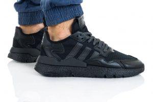 נעליים אדידס לגברים Adidas Nite Jogger - שחור מלא