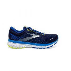 נעלי ריצה ברוקס לגברים Brooks Ghost 13 - כחול כההלבן