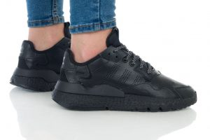 נעלי סניקרס אדידס לנשים Adidas Nite Jogger - שחור מלא