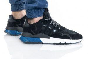 נעליים אדידס לגברים Adidas Nite Jogger - שחור/כחול